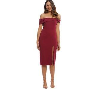 JayGodfrey Darryl Midi Boysenberry Dress sz 6